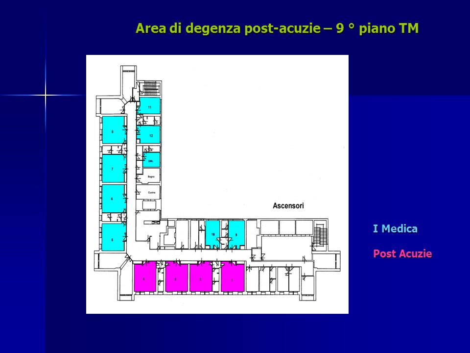 Area di degenza post-acuzie – 9 ° piano TM