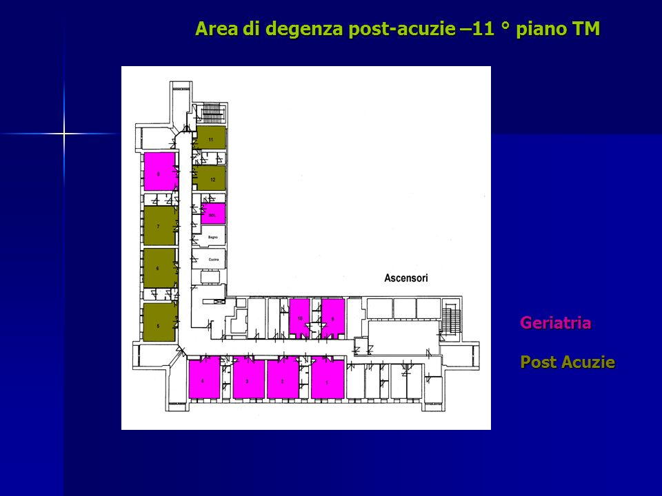 Area di degenza post-acuzie –11 ° piano TM