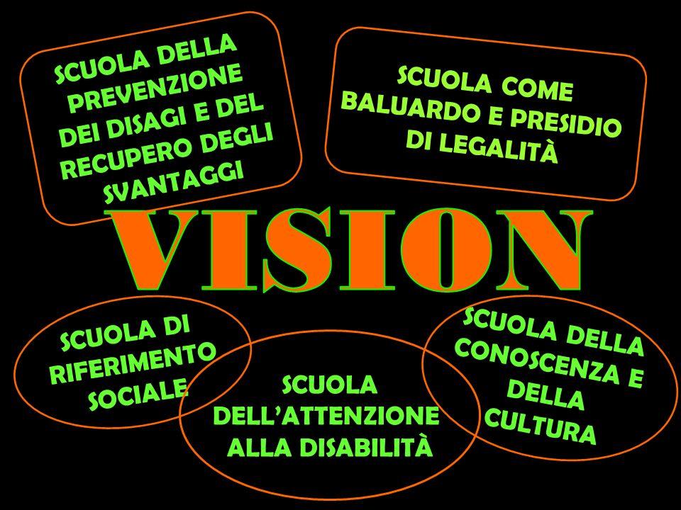 VISION SCUOLA DELLA PREVENZIONE SCUOLA COME DEI DISAGI E DEL
