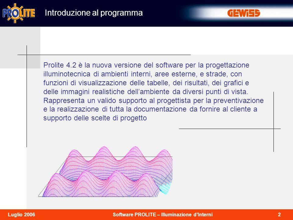 Introduzione al programma
