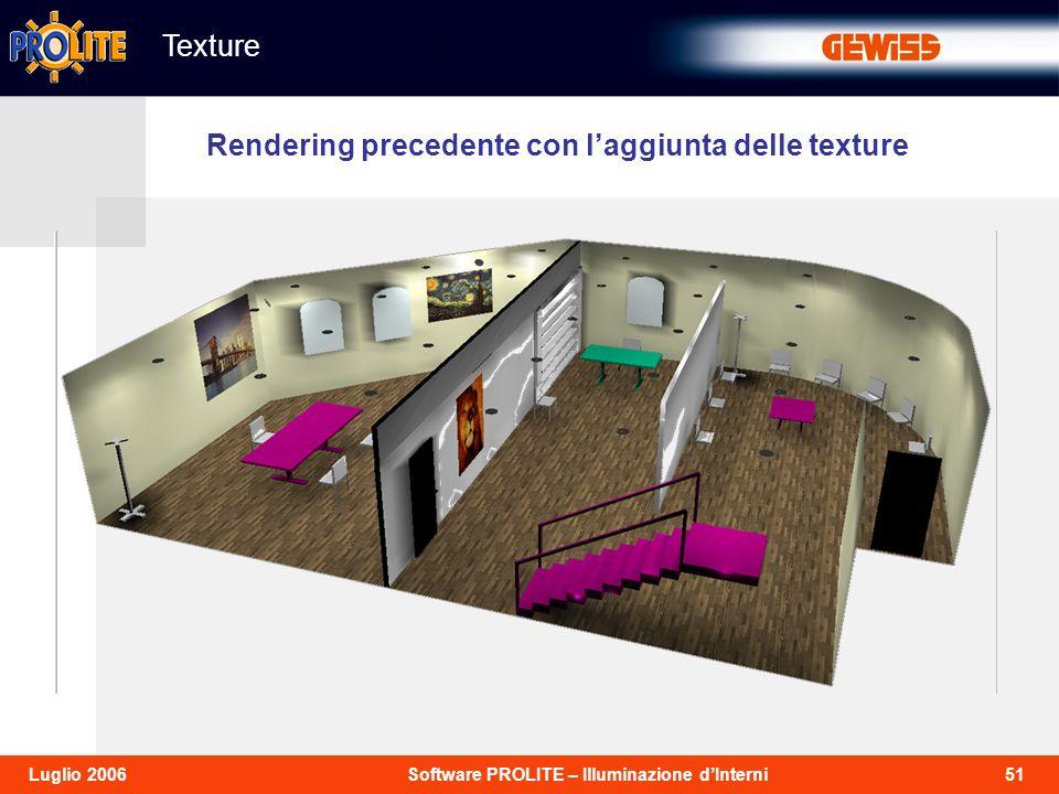 Texture Rendering precedente con l'aggiunta delle texture