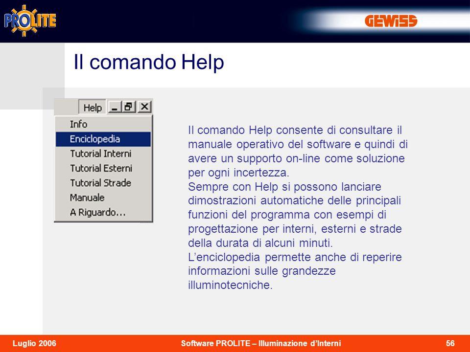 Il comando Help