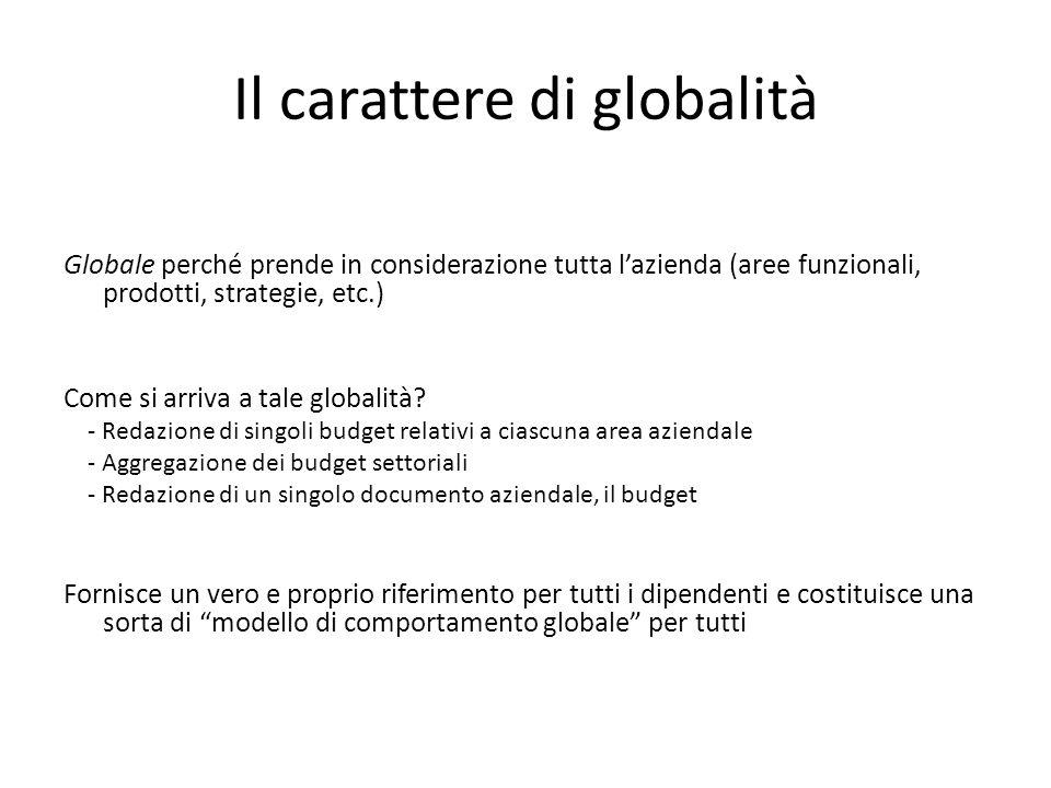 Il carattere di globalità