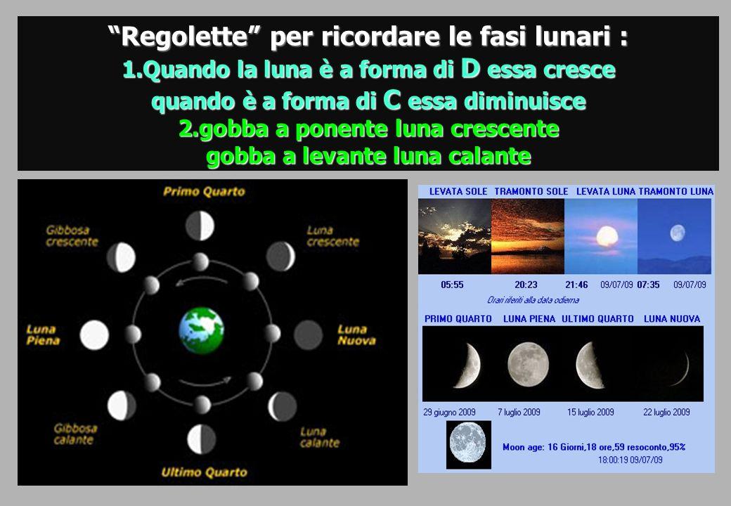 Regolette per ricordare le fasi lunari :