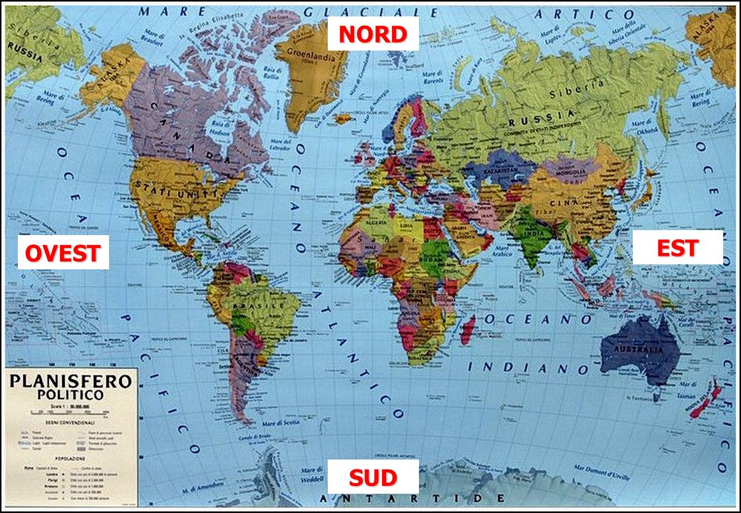 NORD EST OVEST SUD