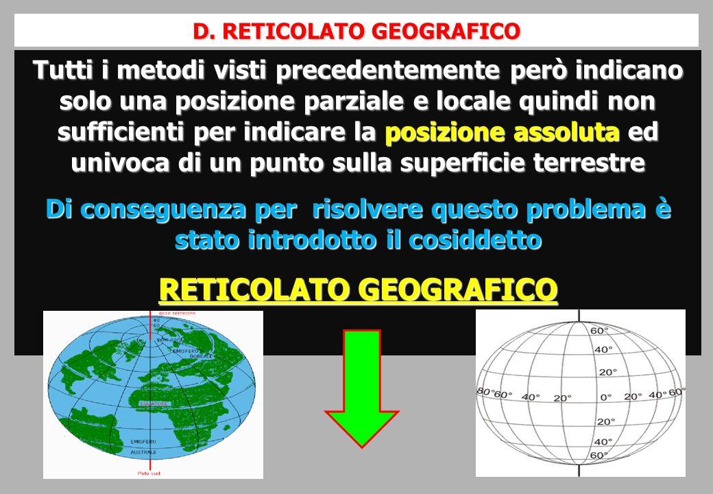 D. RETICOLATO GEOGRAFICO RETICOLATO GEOGRAFICO