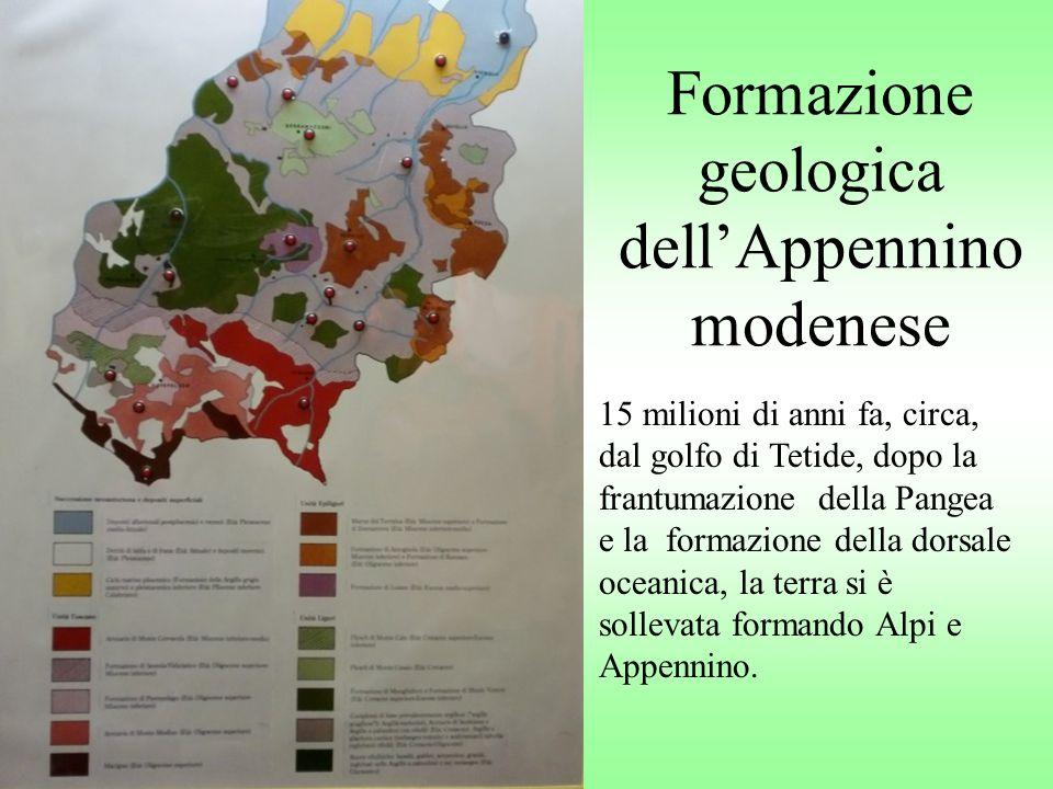 Formazione geologica dell'Appennino modenese
