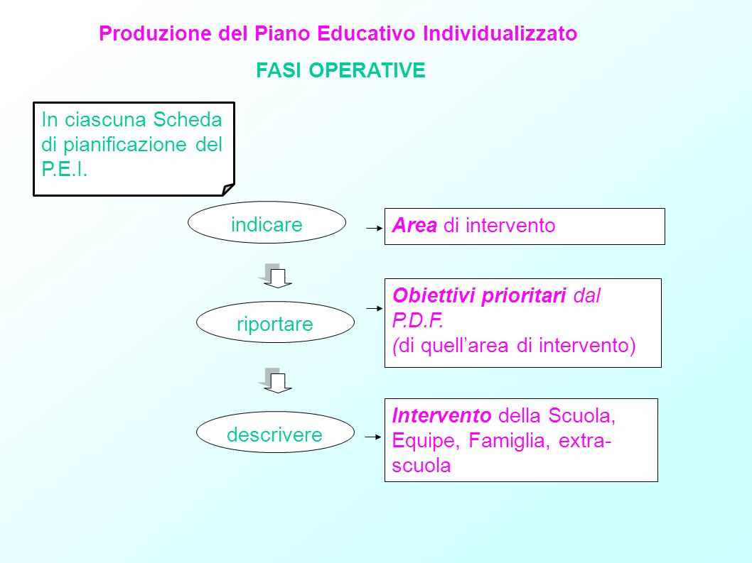 Produzione del Piano Educativo Individualizzato