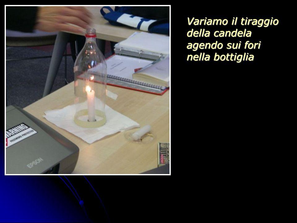 Variamo il tiraggio della candela agendo sui fori nella bottiglia