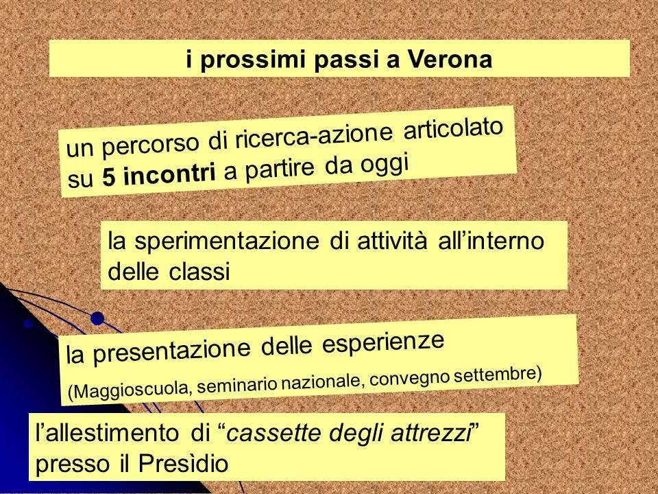 i prossimi passi a Verona