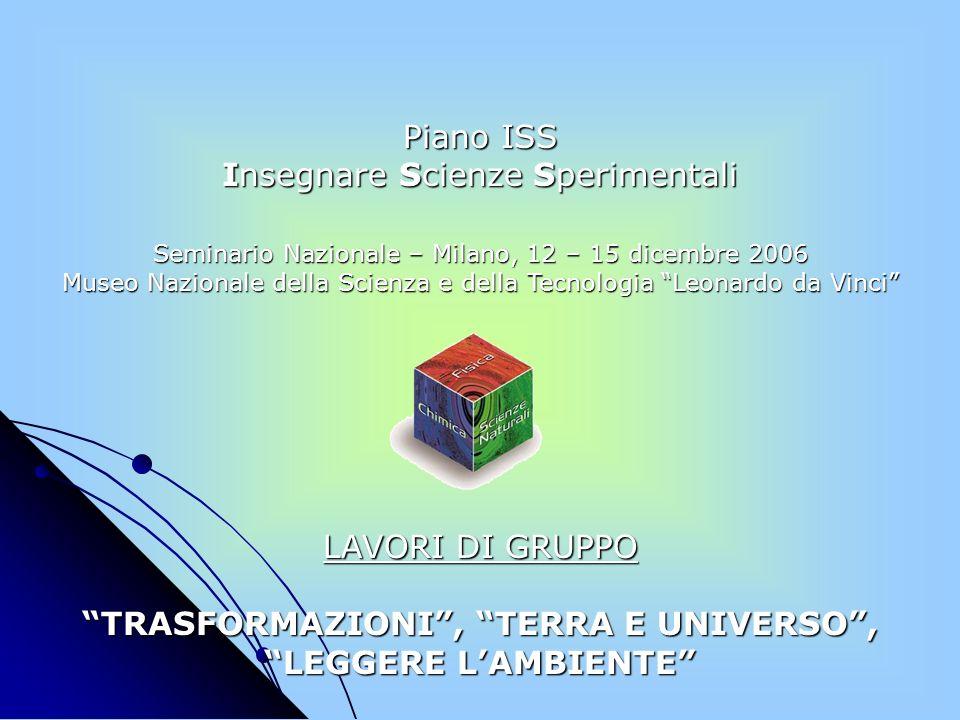 TRASFORMAZIONI , TERRA E UNIVERSO , LEGGERE L'AMBIENTE