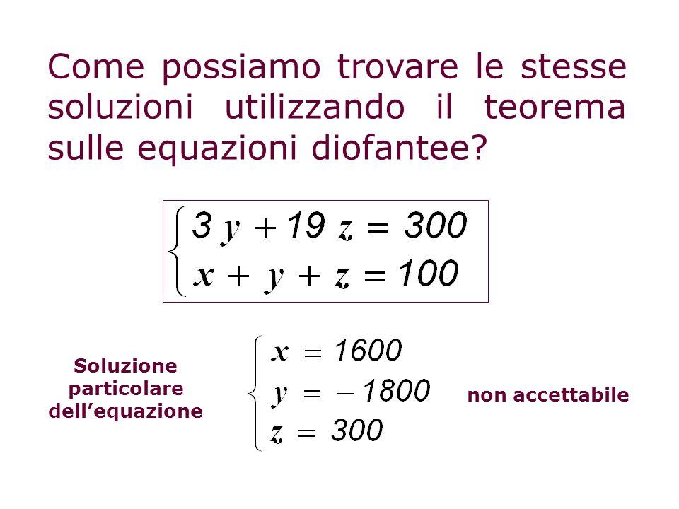 Soluzione particolare dell'equazione