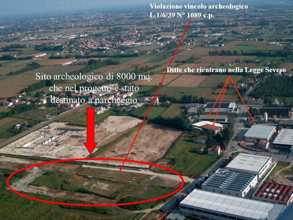 Violazione vincolo archeologico L.1/6/39 N° 1089 c.p.