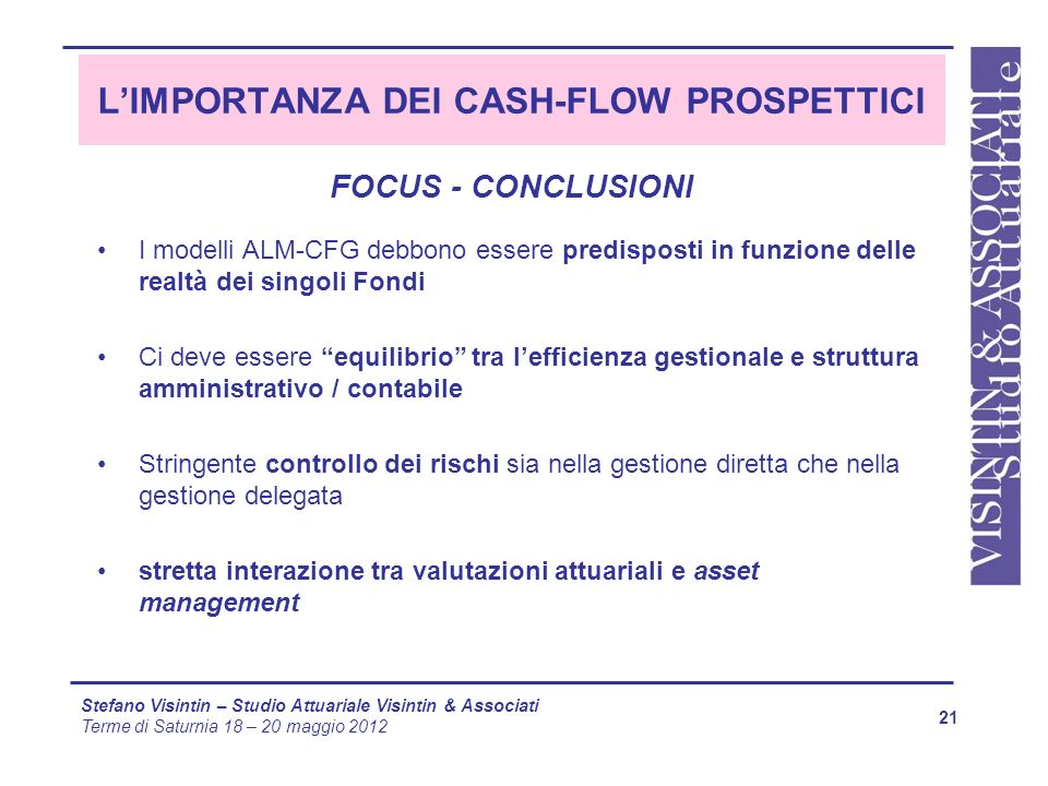 L'IMPORTANZA DEI CASH-FLOW PROSPETTICI