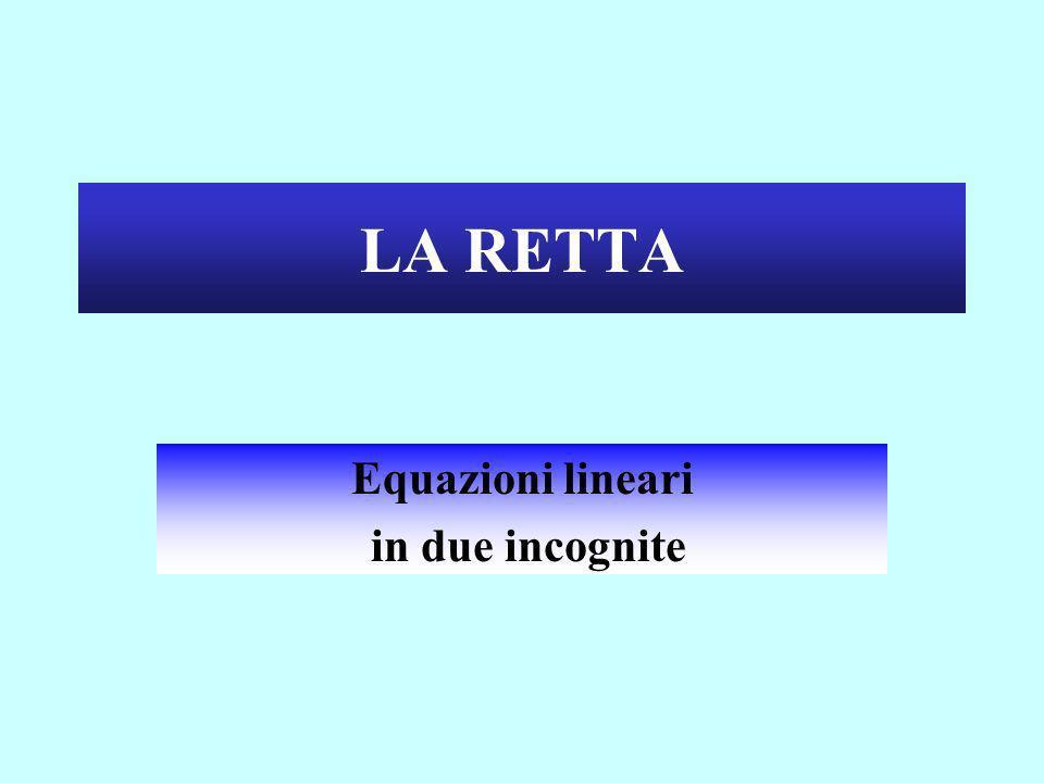 Equazioni lineari in due incognite