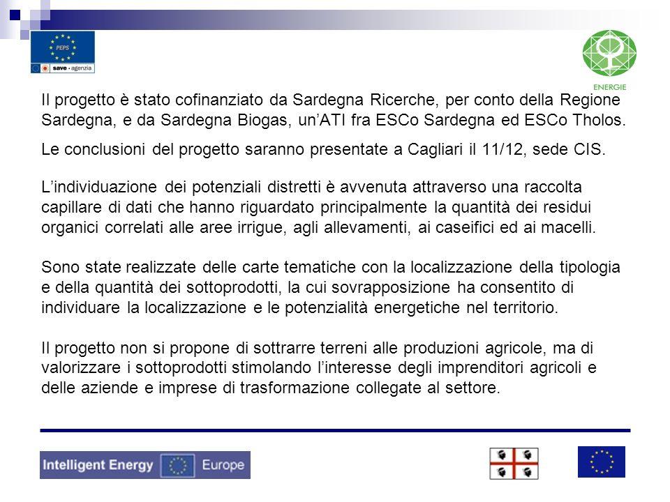 Il progetto è stato cofinanziato da Sardegna Ricerche, per conto della Regione Sardegna, e da Sardegna Biogas, un'ATI fra ESCo Sardegna ed ESCo Tholos.