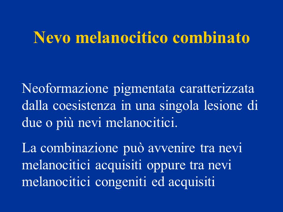 Nevo melanocitico combinato