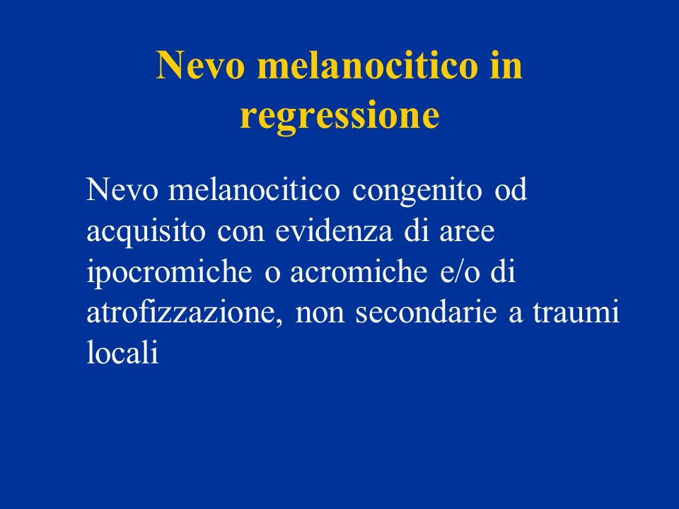 Nevo melanocitico in regressione