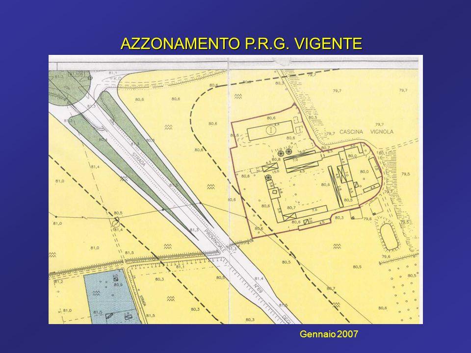 AZZONAMENTO P.R.G. VIGENTE