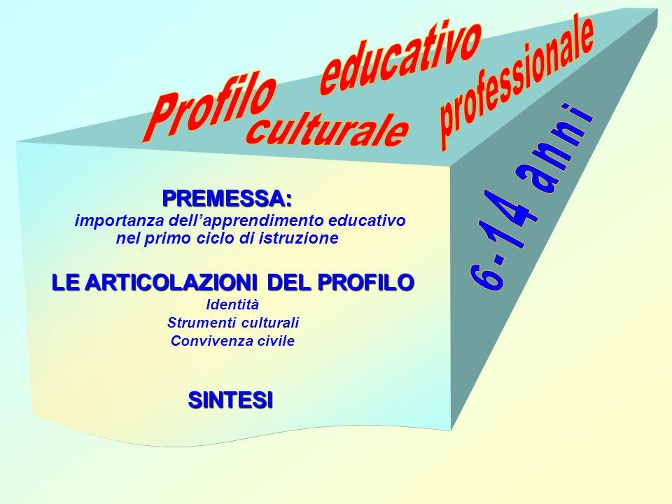 educativo professionale Profilo culturale