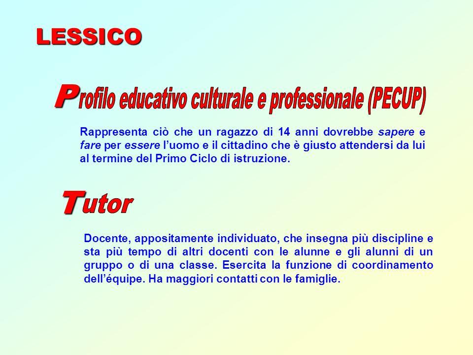rofilo educativo culturale e professionale (PECUP)