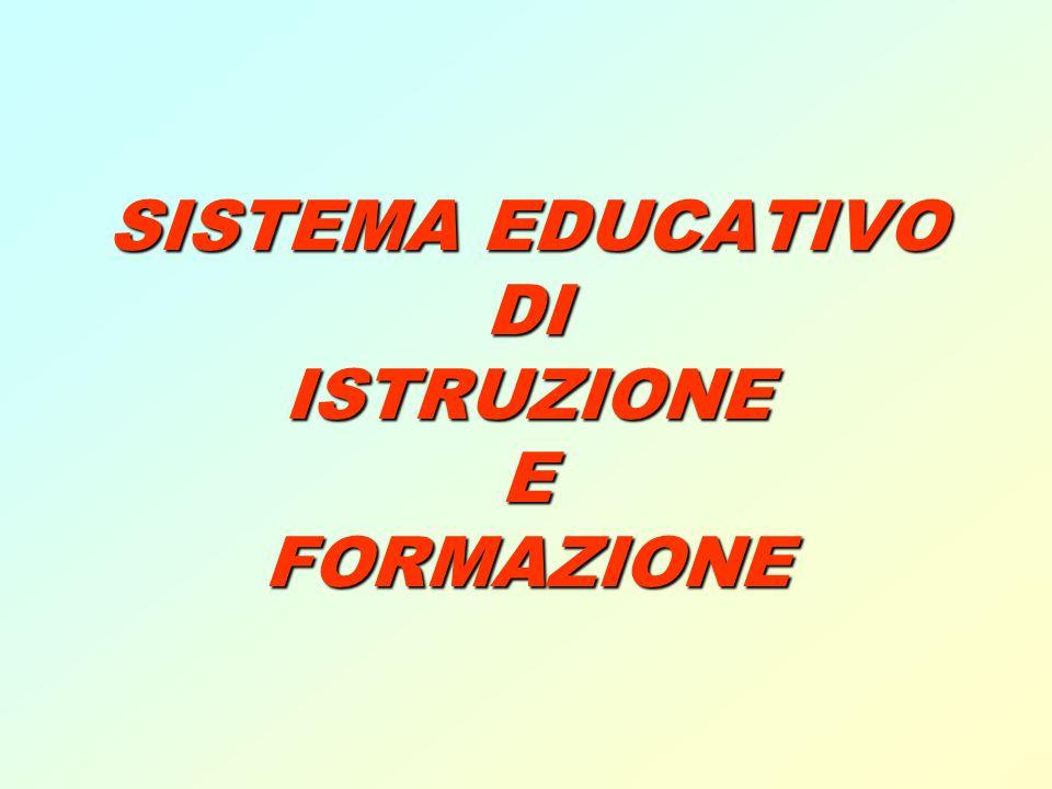 SISTEMA EDUCATIVO DI ISTRUZIONE E FORMAZIONE