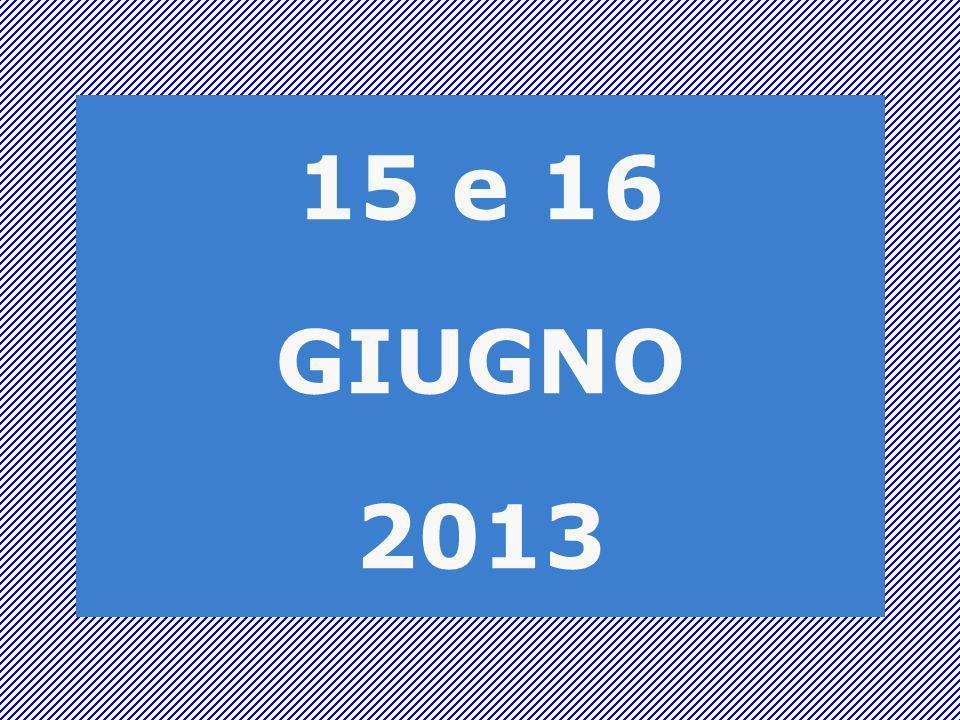 15 e 16 GIUGNO 2013