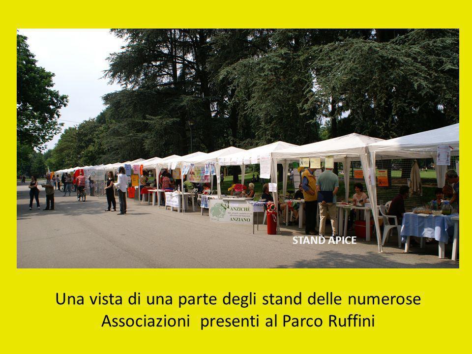 STAND APICE Una vista di una parte degli stand delle numerose Associazioni presenti al Parco Ruffini.