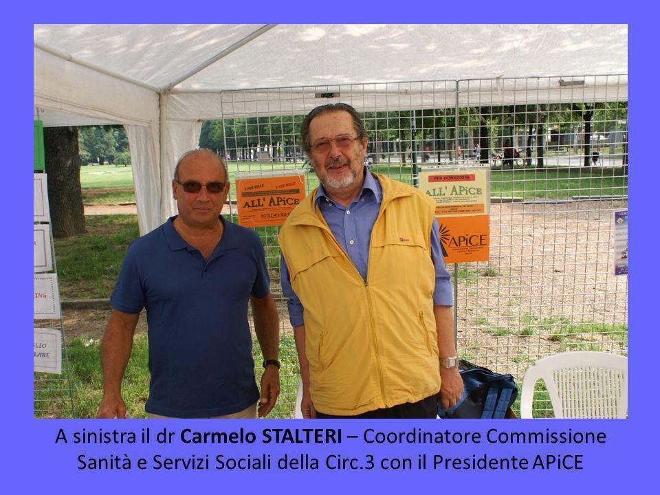 A sinistra il dr Carmelo STALTERI – Coordinatore Commissione Sanità e Servizi Sociali della Circ.3 con il Presidente APiCE