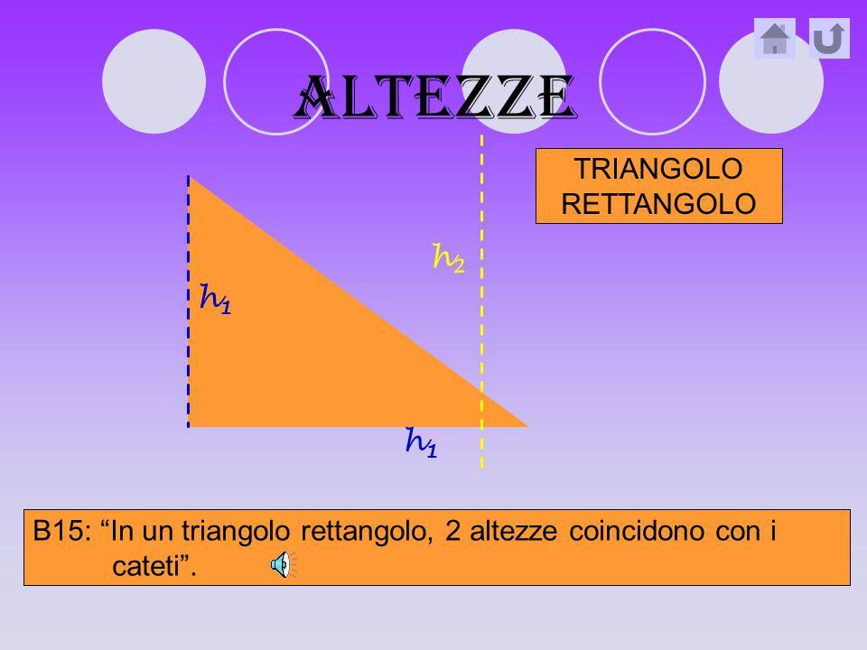 altezze TRIANGOLO RETTANGOLO h2 h1 h1