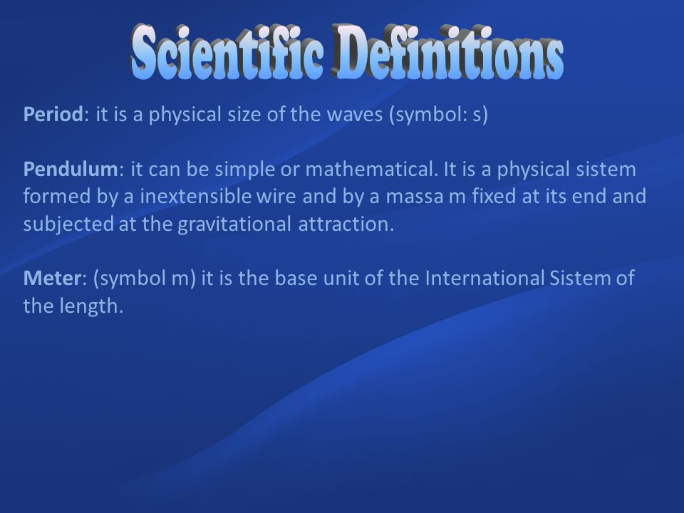 Scientific Definitions