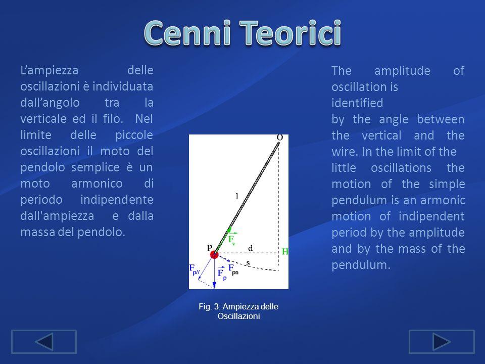 Fig. 3: Ampiezza delle Oscillazioni