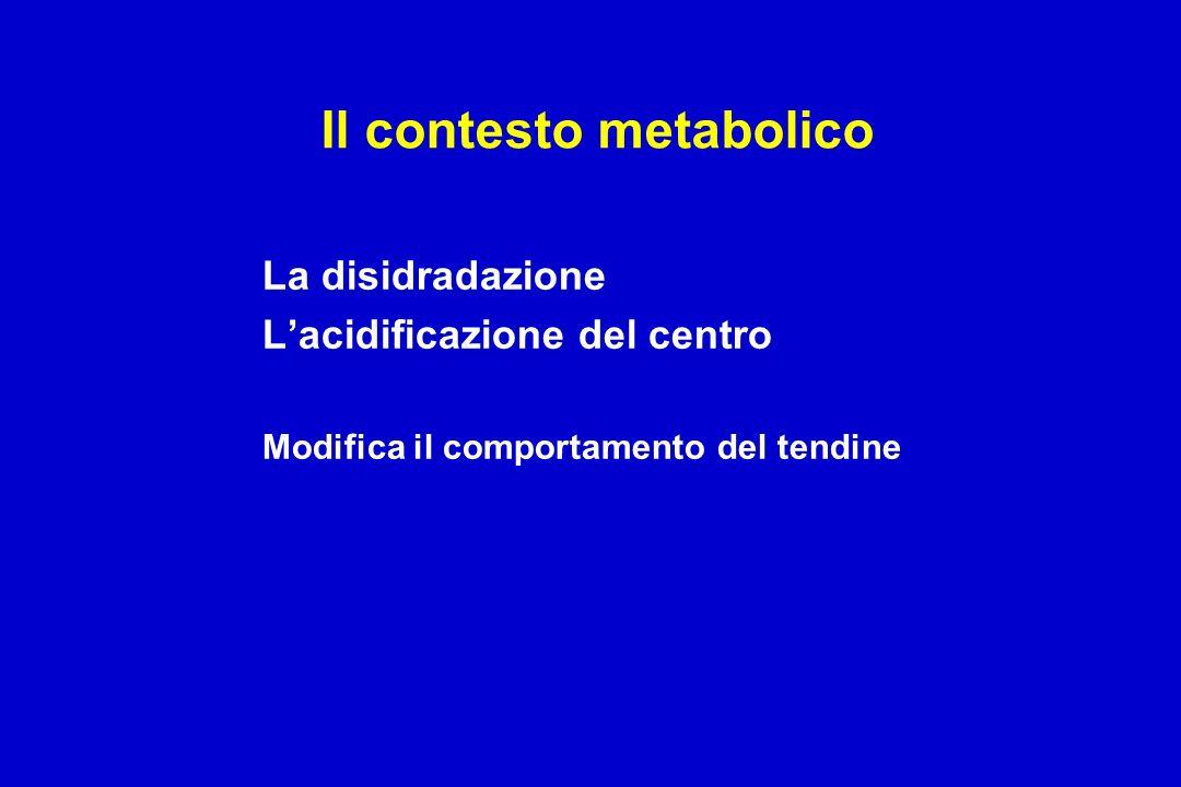 Il contesto metabolico
