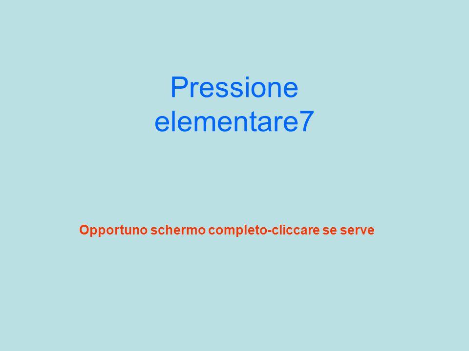 Pressione elementare7 Opportuno schermo completo-cliccare se serve
