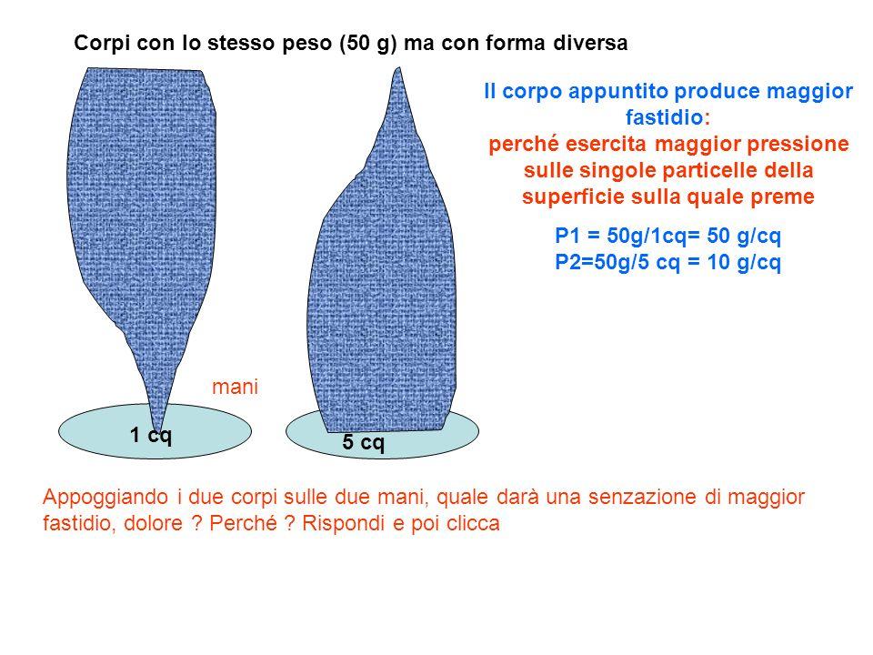 P1 = 50g/1cq= 50 g/cq P2=50g/5 cq = 10 g/cq