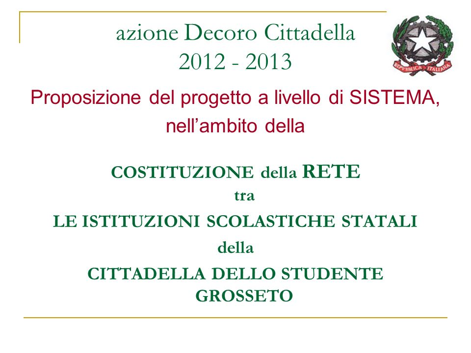 azione Decoro Cittadella 2012 - 2013