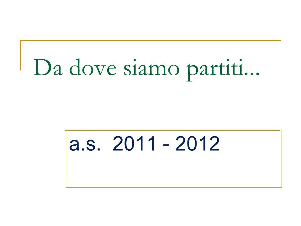 Da dove siamo partiti... a.s. 2011 - 2012