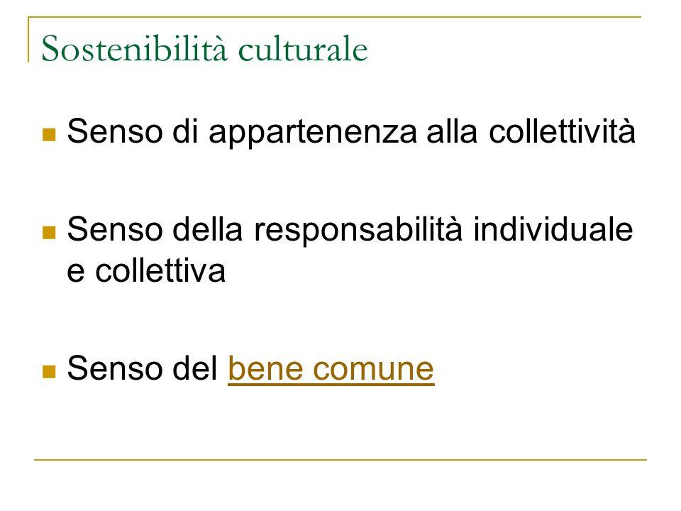 Sostenibilità culturale