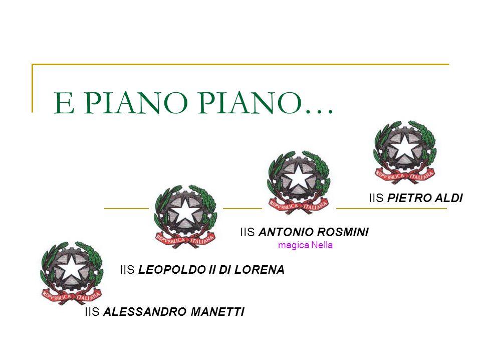 E PIANO PIANO… IIS PIETRO ALDI IIS ANTONIO ROSMINI