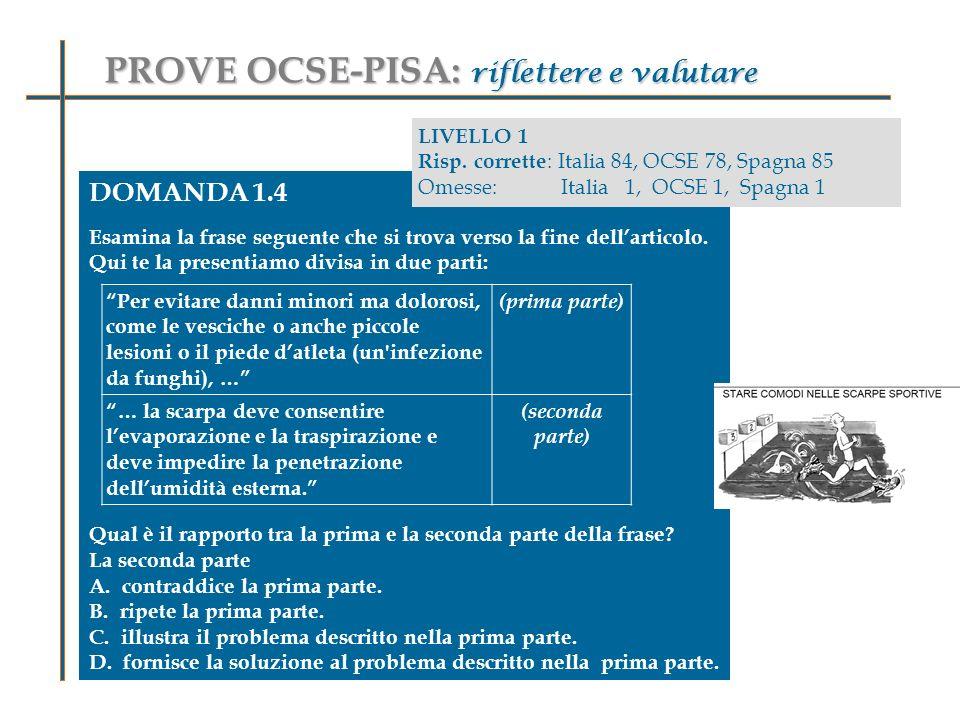 PROVE OCSE-PISA: riflettere e valutare