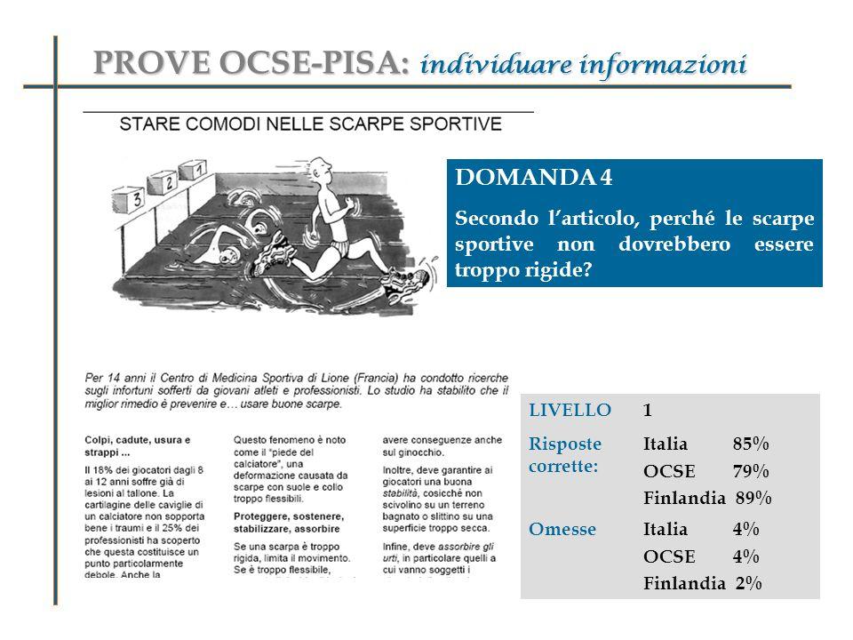 PROVE OCSE-PISA: individuare informazioni