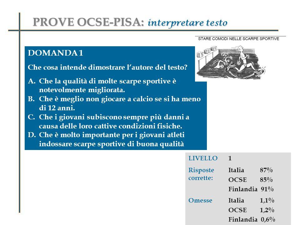 PROVE OCSE-PISA: interpretare testo