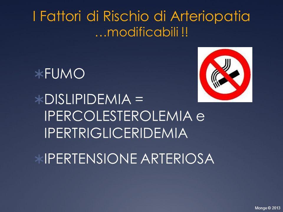 I Fattori di Rischio di Arteriopatia
