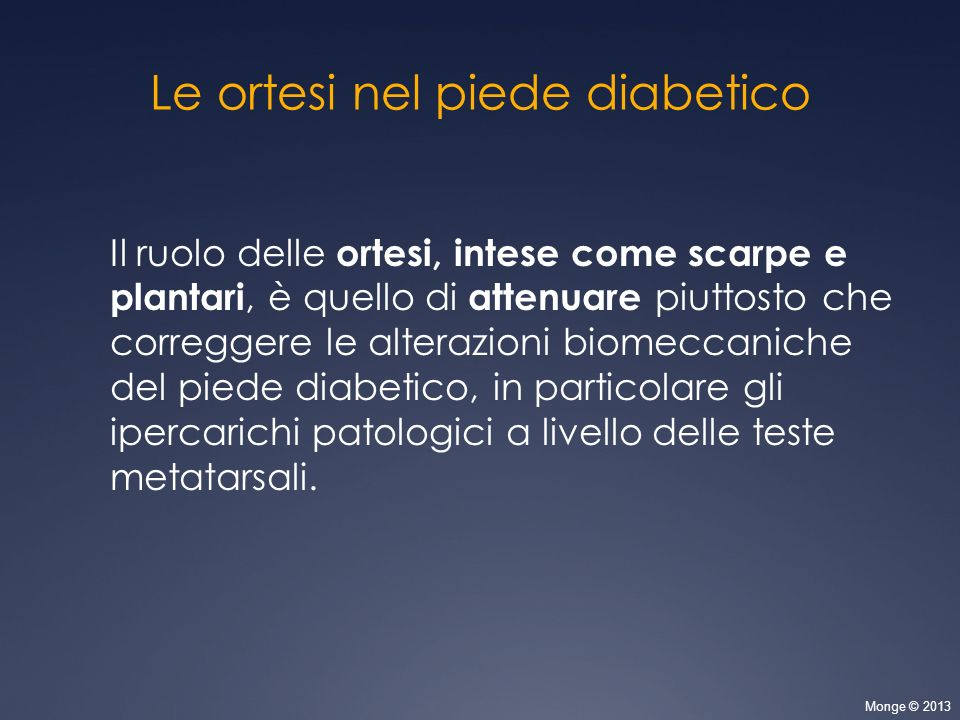 Le ortesi nel piede diabetico