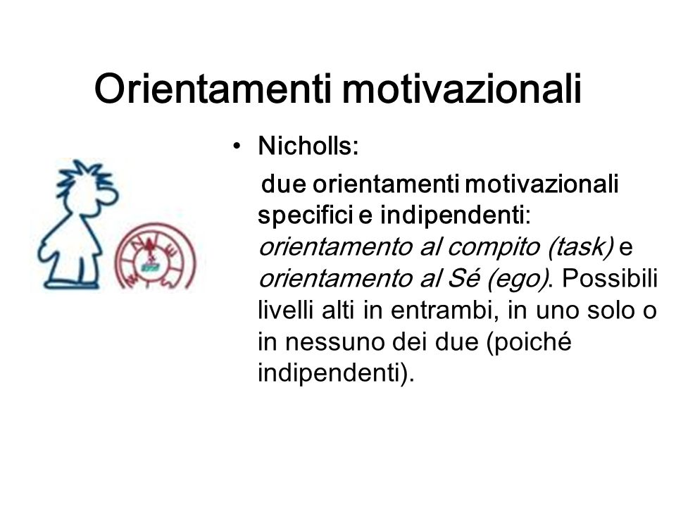 Orientamenti motivazionali