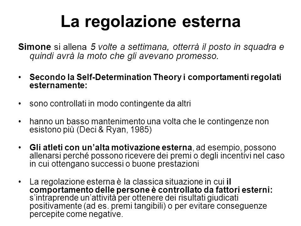 La regolazione esterna