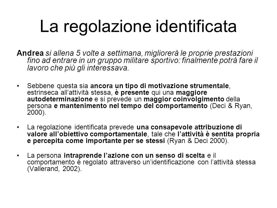 La regolazione identificata