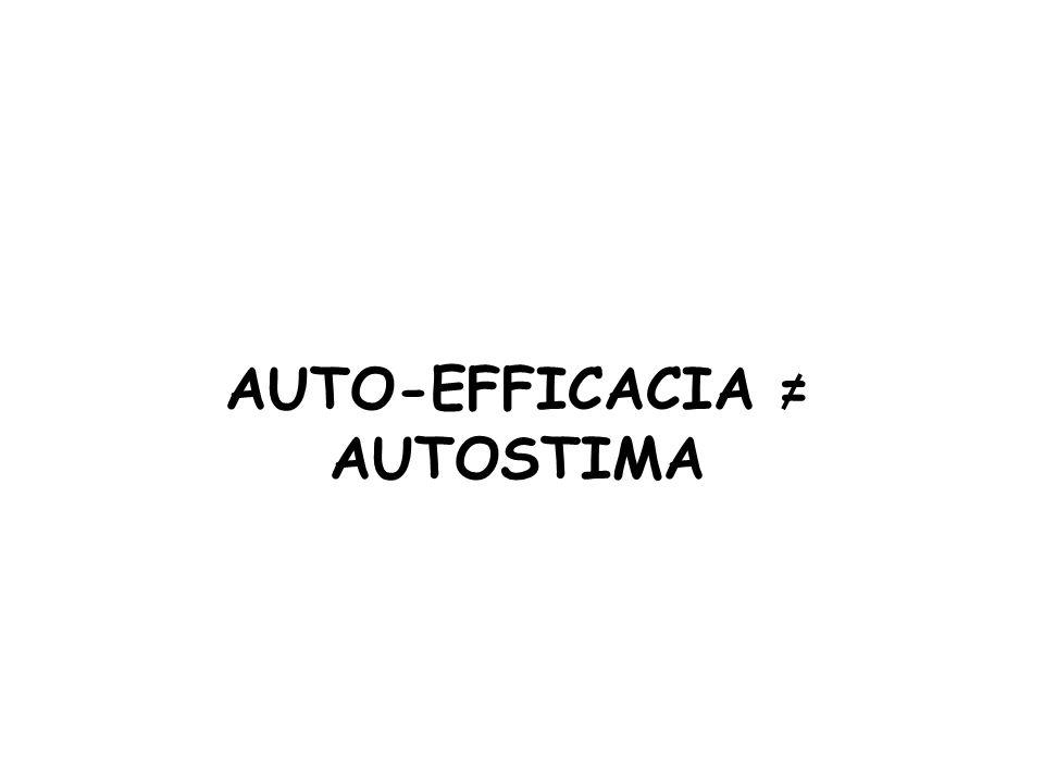 AUTO-EFFICACIA = AUTOSTIMA