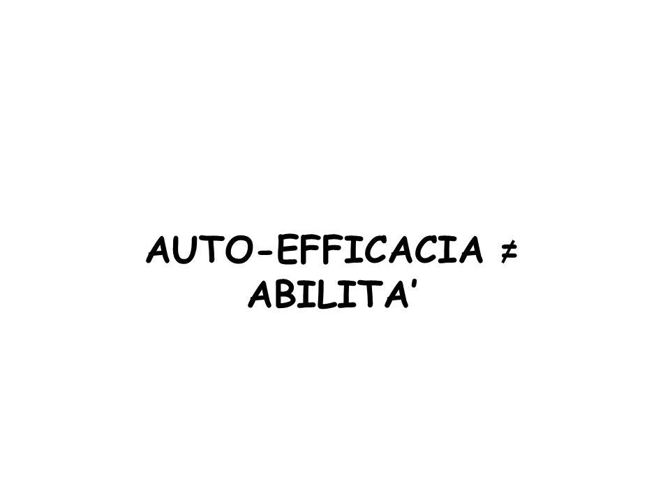 AUTO-EFFICACIA = ABILITA'