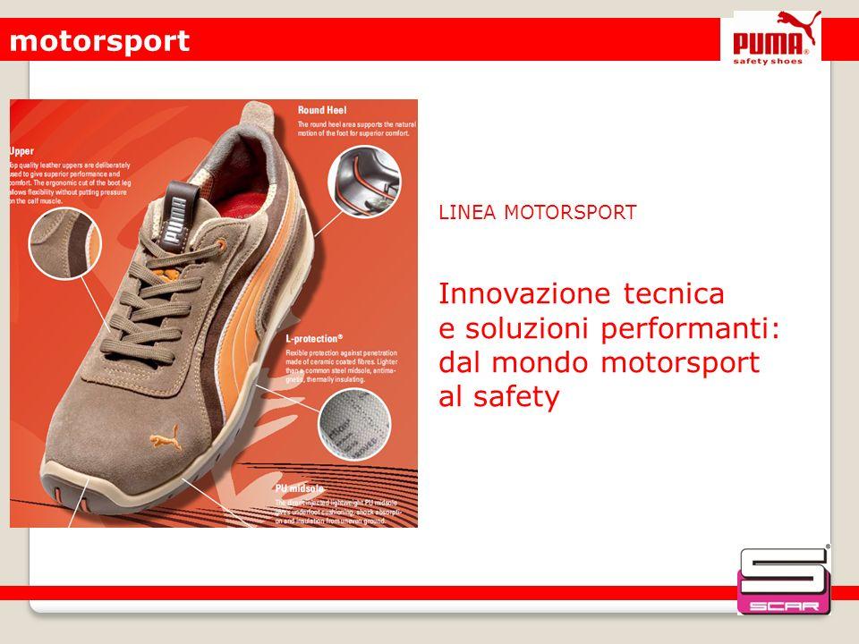 motorsport LINEA MOTORSPORT. Innovazione tecnica e soluzioni performanti: dal mondo motorsport al safety.